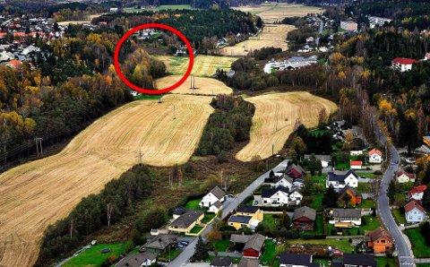 Det er på denne tomten på nedsiden av Vetaberget i Greåkerdalen advokat Morten Furuholmen ønsker å bygge totalt fire firemannsboliger.
