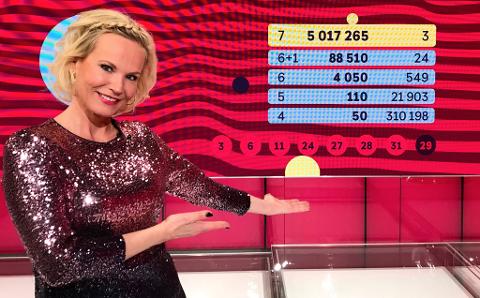 Tre nordmenn ble over fem millioner kroner rikere etter lørdagens Lotto-trekning.