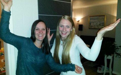 FULL JUBEL: Naboene Elisabeth Berge Andersen (32) og Silje Anett Søreng (24) fra Eidsberg i Østfold vant 100.000 kroner hver i Nabolaget.