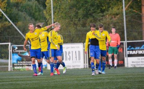 STORMER VIDERE: Trøgstad/Båstad er virkelig i støtet om dagen. Borte mot Ekholt ble det seier 5-0. Det var de gule og blå sin sjuende strake seier.