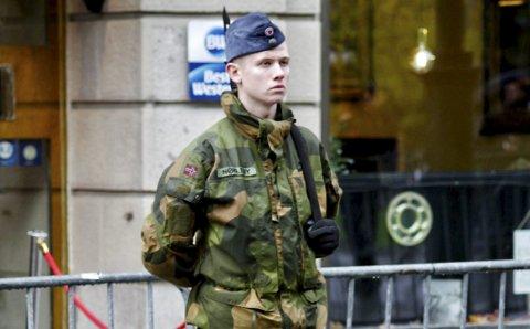LIKER TRØNDELAG: Rune Nøkleby (19) fra Trøgstad valgte å bli stasjonert i Trøndelag fordi han synes naturen var fin der. FOTO: Trygve Bolstad
