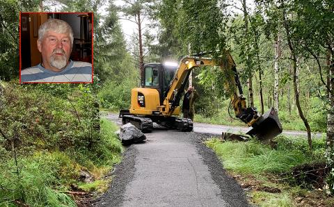 SKEPTISK: Det bygges handikapp-plass ved Ertevannet i Trømborgfjella. Grunneier Tor Morten Garseg er bekymret for at den kan bli utsatt for uønskede hendelser.