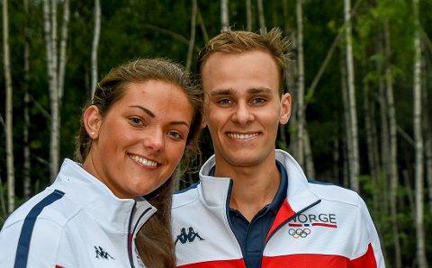 SAMMEN TIL OL: Jeanette Hegg Duestad fra Tønsberg og Henrik Larsen fra Mysen er begge i verdenstoppen i rifle. Nå gleder kjæresteparet seg til å delta i OL.