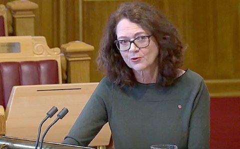 NØGD: – No har me sikra cruisetrafikk på Aurlandsfjorden etter 2026 og at gruvedrifta i Gudvangen framleis kan bruka bulkskip på fjorden, seier stortingsrepresentant Ingrid Heggø (Ap).