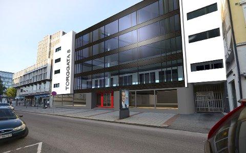 Får ny fasadE: R8 Property AS skal bruke noen millioner på Centrumgården i Skien sentrum, og arbeidet starter i slutten av januar. Slik blir den nye fasaden.
