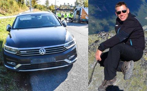 AVSKILTET: Thore Henrik Pedersen fikk firmabilen avskiltet søndag ettermiddag. Det skjedde på grunn av en kommunikasjonssvikt. Foto: Asbjørn Olav Lien/Privat
