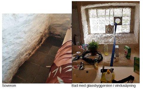 AVDEKKET: Under tilsynet ble det blant annet avdekket at kjellerleiligheten ikke hadde vinduer som kunne åpnes, kun vindusåpninger med glassbyggerstein.