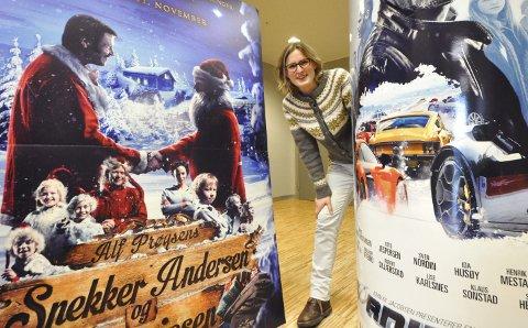 Fornøyd: Kinosjef Hilde Hem gleder seg over ny besøksrekord på Notodden kino i 2016.