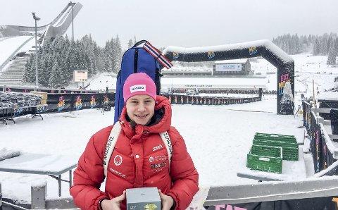 Toppen: Even Uhlin-Engstu leverte en god normaldistanse under Kvalfoss-sprinten i Holmenkollen og ble nummer 13. Nå venter Østlandsmesterskapet og Hovedlandsrennet de kommende helgene på 16-åringen. (Foto: Jørn Steinmoen)
