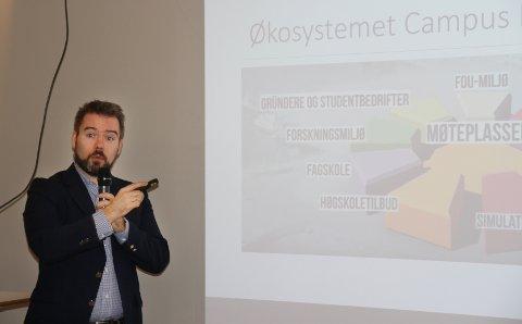 Prosjektleder Roland Mauseth håper nærlingslivet vil være med å diskutere Campus Kristiansund.