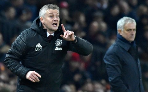 Ole Gunnar Solskjær og Manchester United slo José Mourinhos Tottenham onsdag kveld.