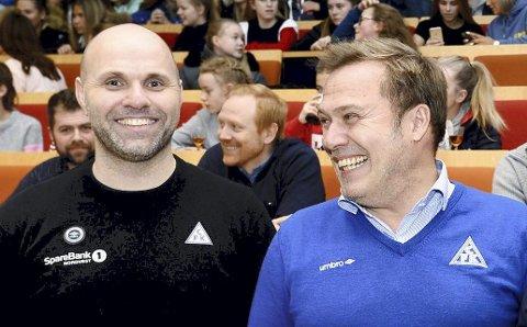 Brede glis: Daglig leder Jan Trygve Pedersen og styreleder John Marius Dybvik i CFK kan glede seg over at Sondre Sørlis overgang til Bodø/Glimt er god butikk også for Enga.