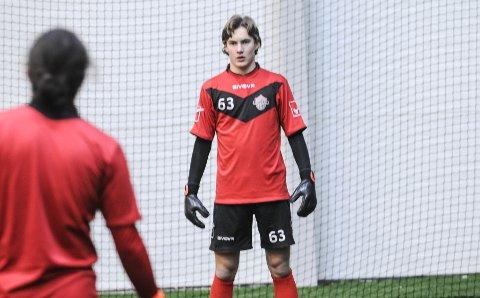 PÅ TUR: Strømsgodset-spilleren og Nøtterøy-gutten Jørgen Johnsen, her fotografert på FK Tønsberg-trening, er tatt ut til G17-EM i England i mai.