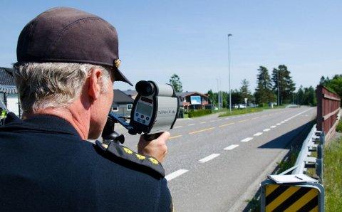 KONTROLL: UP vil kontrollere med laser, uniformerte og sivile kjøretøy i utfartshelgen.