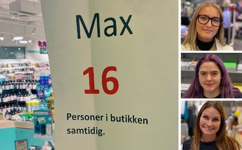 HANDLEDAG: Black friday preget butikkene på Amfi Raufoss, med varierende trafikk gjennom dagen. Toten Idag snakket med Mia Joahnsen (fra toppen), Jeanett Maylene Theisen og Gry Hagen om.