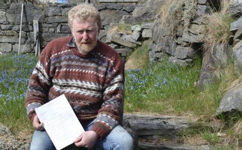 Jan Monrad: Må ut med titusener i eiendomsskatt som følge av at naboene fikk omregulert  området han bor i fra landbruksnæring til fritid. Arkivfoto