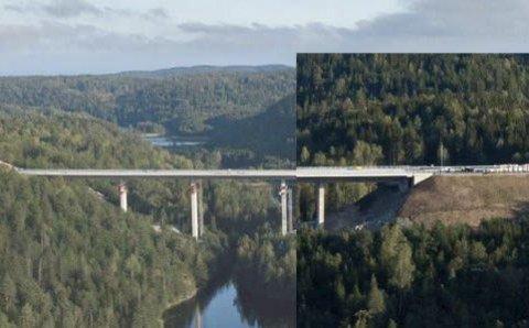 Kortere bruer: Ved masseforflytting innenfor veitraséen skal Nye Vier oppnå kortere bruer, og dermed mindre bruk av stål og betong.
