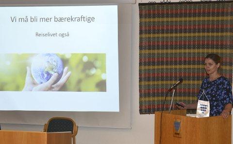 Må endre: Reiselivssjef Merete Hovi kom med klar melding om at reiselivet må bli meir miljøbevisste – men òg vi som bur i Valdres.