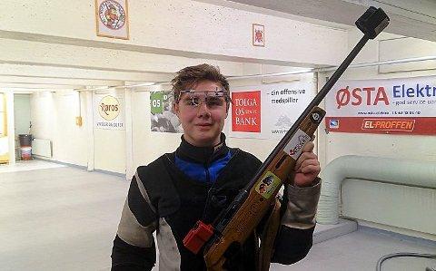 Solan Henningsmo satte seg skikkelig i respekt med sine 349 på juniorprogrammet på Os i helga.