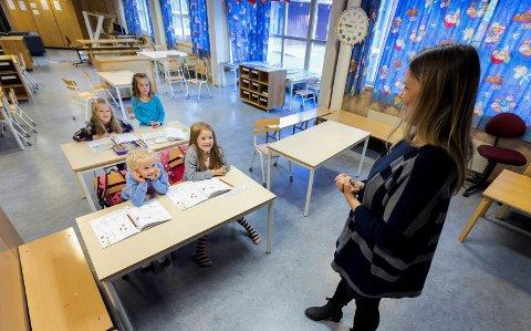 Nytt skoleår: Lærere og elever tar fatt over helga.Foto: Gorm Kallestad / NTB scanpix
