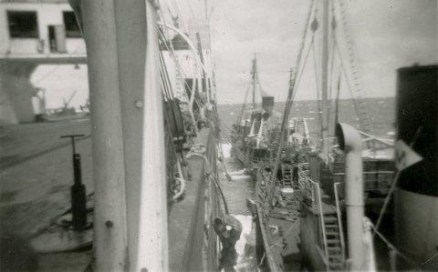 KONVOI: Tjostolv og øvrig mannskap dro i konvoi til hvalfangstområdene.