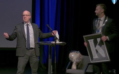 «URETTFERDIG»: Vinneren Stein Jarl Jerdal sa selv at prisen var urettferdig, og siktet til at prisen må deles med alle som har gitt støtte og hjelpe i miljøet