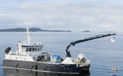 TESTET: Waterise kan tilby drikkevann gjennom avsalting av sjøvann på en helt ny måte. Her testet de teknologien sin i Boknafjorden. Det ga positive resultater.