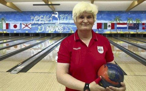 Janne Monsen gjorde sine saker bra i veteran-VM i bowling. (Foto: Erik Garder, Norges Bowlingforbund)