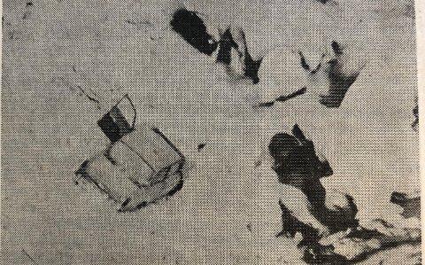 Avisutklipp etter ulykken der Olaf Villanger, Vidar Hop og Arne Færøy kjørte ut og stupte 50 meter ned i Tokagjelet.