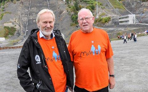 LYKKES IKKE: Ap-veteranene Terje Bråthen (t.v.) og Odd Flattum lykkes ikke i å redde Ap-flertall etter kommunvalget.