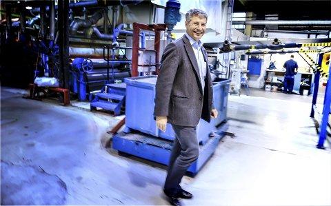 OPPKJØP: Konsernsjef Erik Øyno er svært fornøyd med oppkjøpet i Tyrkia. Her fra fabrikklokalene i Lier for noen år tilbake.