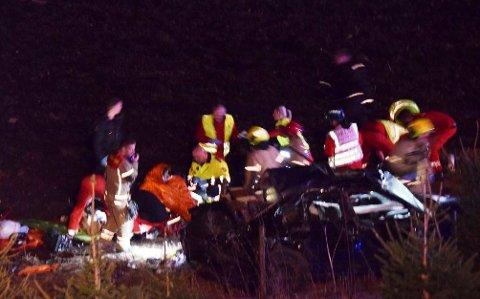 21-åringen var passasjer da en bil kjørte ut på Grimsrudveien i april i fjor.