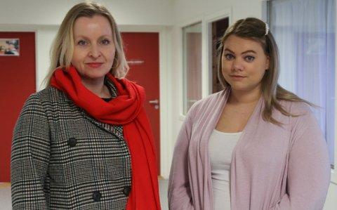 fOR OMSORGSSENTER: Marie K Tveranger og Lenita B Hatleseth frå Flora Raudt.