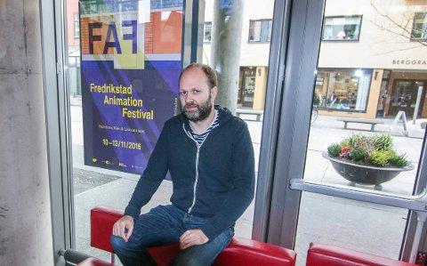 Klart: Det meste skulle være på plass. Animasjonsfestivalsjef Anders Narverud Moen  lander torsdag, og regner med at over 3.000 publikummerne og gjestene er klare for semiknarer og filmer.