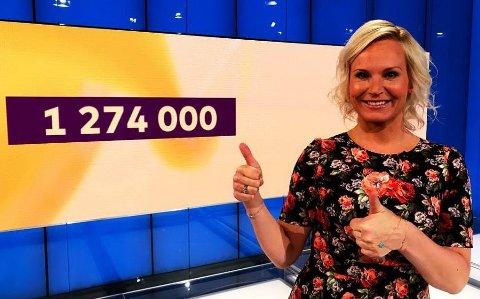 TIL TOPPS: Gratulerer til Fredrikstad-mannen som gikk til topps i Joker denne onsdagskvelden, sier programleder Ingeborg Myhre.