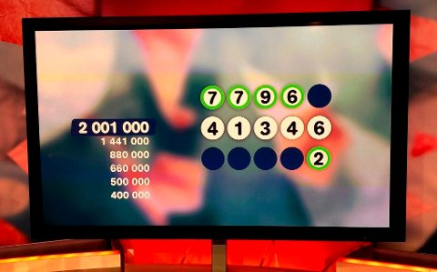 JOKER-MILLIONÆR: Onsdag kveld ble en Skjervøy-mann Joker-millionær. Bildet er fra en tidligere anledning en person fra Troms gikk til topps i Joker-spillet.