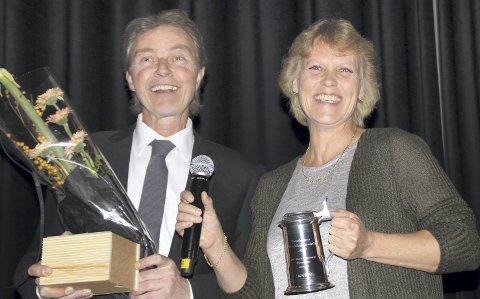BEST AV 47: Jon-Birger Hangaard og Merete Lie fra Kongsvinger vant i kategorien «beste formeringsbesetning». Foto: Erling Mysen/Fagbladet Svin