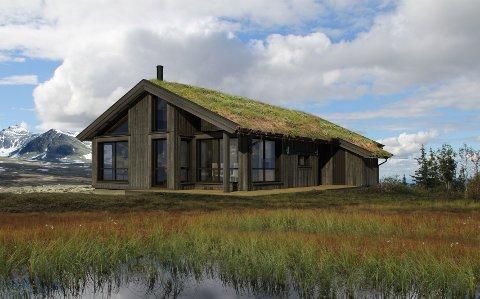 VANT: Med denne Danebu-modellen ble Tinde Hytter kåret til «Årets Hytteprosjekt 2018» under boligkonferansen til Boligprodusentenes forening.