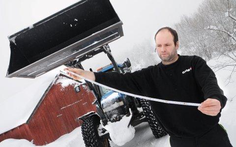 UVÆRET: Harald Nystuen, Bjorli, fikk 80 centimeter med tung nysnø på ett døgn.