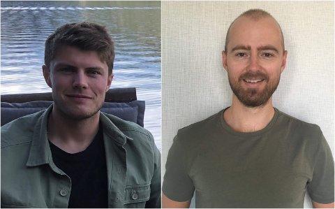 Fredrik Sprakehaug Øvrevik (t.v.) og Brede Woll Jørandli har fått fast ansettelse ved legesenteret i Gausdal kommune.