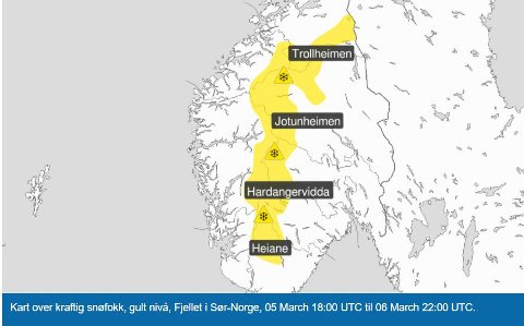 VIND I FJELLET: For de ferierende som skal hjem fra fjellet fredag og lørdag kan kraftig vind by på utfordringer med snøfokk og dårlig sikt.