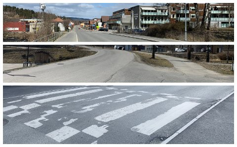 ENDRINGER: Det blir endringer i blant annet Storlinna og Orhagavegen i Brandbu sentrum. I tillegg blir det justering av veghumpene.
