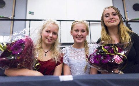 9. DESEMBER: Hedda O. Røsnæs (tv), Elise Holt, Rebecca Tallman  og fire andre er i semifinalen i HaldenTalentet.FOTO: DAVID ENGMO