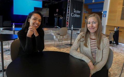 FIKK 1,5 MILLIONER TIL SAMMEN: Hiwot Hailu ved Forandringshuset i Haugesund og Ruth Synnøve Hausken ved KFUM/KFUK Haugesund var to av dem som ble overrasket fredag, Pengene vil gagne ungdommer på Haugalandet.