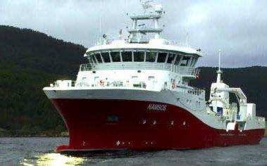 SUPERBÅT: Norsk Fisketransports nyeste skip MS «Namsos» ble døpt i Namsos sist søndag. Foto: Norsk Fisketransport