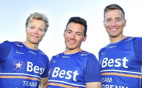 «Best av de beste: Team»: Team langrenn: Eirik Brandsdal (f.v.), Finn Hågen Krogh og Ola Vigen Hattestad.Foto: Håvard Solem/TV 2