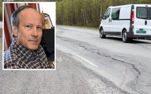 HOLDER ROEN: Åsmund Røst vil ikke juble for bedre vei helt enda.