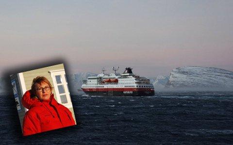 MISTER GJESTER: Åse Winsents driver Kongsfjord gjestehus, som i en årrekke har tatt imot turister fra Hurtigruten. Ifjor vinter tok turiststrømmen brått slutt, da selskapet gjorde en endring i salgsstrategien sin.