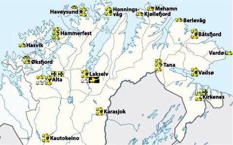 SPREDT VIRKSOMHET: Ambulansevirksomheten i Finnmark er spredt. På hjul operere Finnmarkssykehuset på 17 forskjellige steder. I tillegg har man ambulansefly, ambulansebåt og helikopter som del av beredskapen.