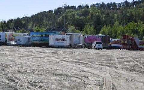 I ALTA: Hugos Tivoli har ankommet ett av stoppestedene i Finnmark i år.